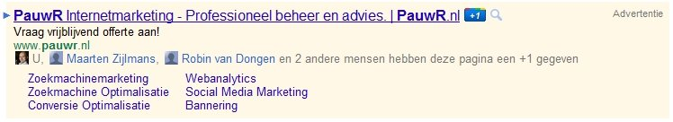 Plus One Google Ads (AdWords) Nederland
