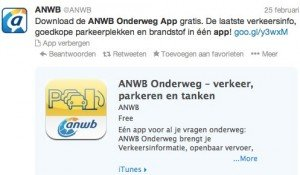 Promoted Tweet ANWB