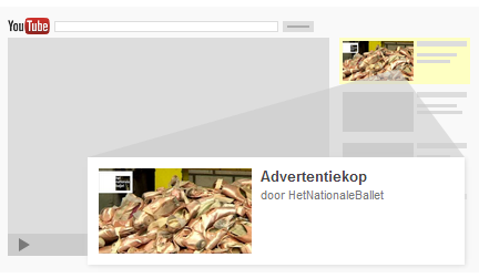 In-Display YouTube advertentie