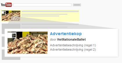 In-Search YouTube advertentie