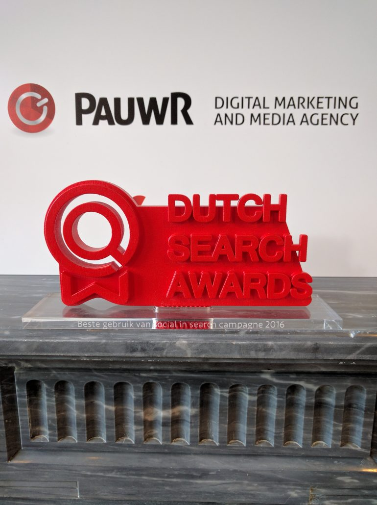 Dutch Search Award PauwR Verzekeruzelf.nl