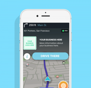 Waze advertising zero speed take over hyperlokaal advertising